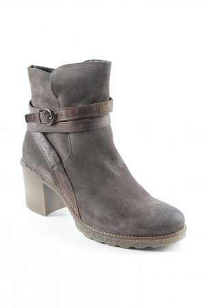 Peckott Reißverschluss-Stiefeletten dunkelbraun Street-Fashion-Look