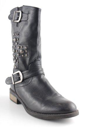 Peckott Reißverschluss-Stiefeletten schwarz Casual-Look