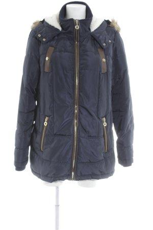 Peckott Winterjacke dunkelblau-braun Casual-Look