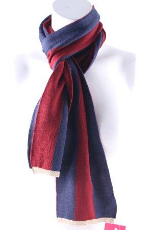 Peckott Bufanda de lana estampado a rayas look casual