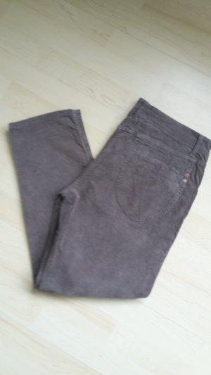 Closed Pantalon en velours côtelé taupe