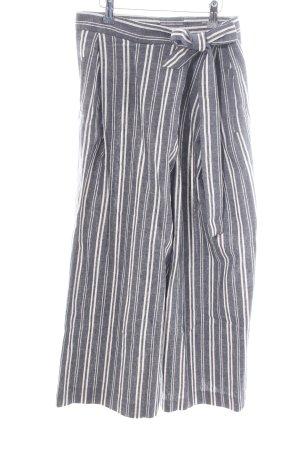 Pedro del Hierro Pantalone culotte grigio chiaro-bianco motivo a righe