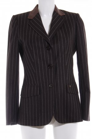 Pedro del Hierro Wool Blazer dark brown pinstripe casual look