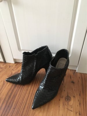 Pedro garcia Low boot noir reptiles