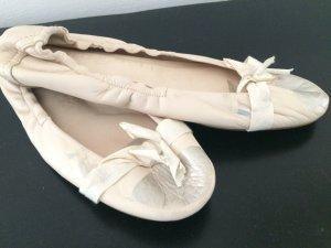 Pedro Garcia Ballerinas, creme silber, Gr 39