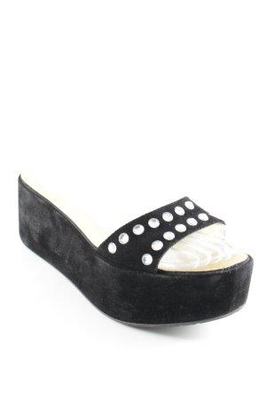 Pedro garcia Platform High-Heeled Sandal black glittery
