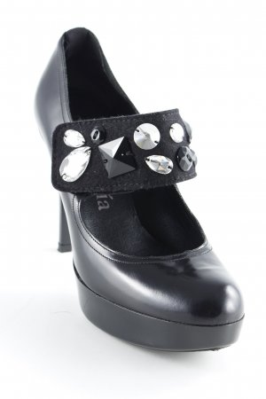 Pedro garcia Riemchenpumps schwarz Party-Look