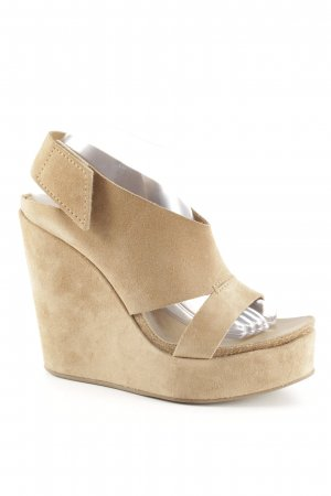 Pedro garcia Wedge Sandals camel simple style