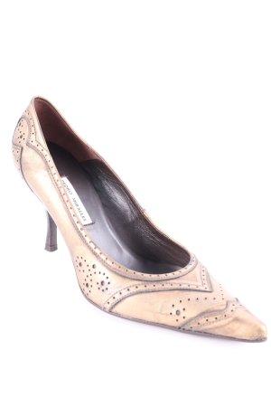 Pedro Miralles High Heels goldfarben extravaganter Stil