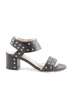 Pedro Miralles Riemchen-Sandaletten schwarz Elegant