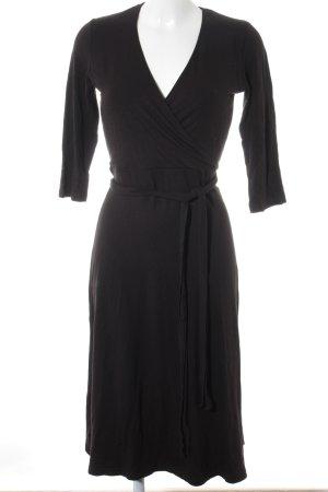 Peek & Cloppenburg Robe portefeuille noir style décontracté