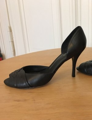 Peep Toe Leder Pumps
