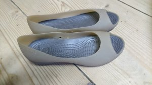 Crocs Peep Toe ballerina's groen-grijs