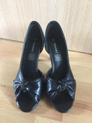 Peep Toe von Yessica in schwarz Gr 39