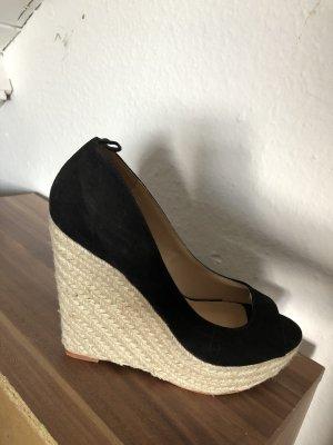 Just Fab Platform Sandals black-cream