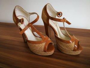 Escarpins à lanière bronze-brun