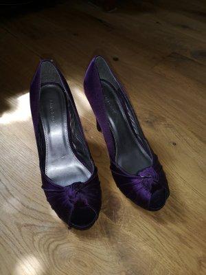 Graceland Tacones con punta abierta violeta oscuro