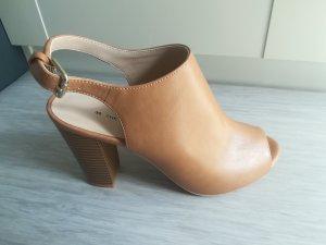 Peeptoe-Ankle-Boots beige