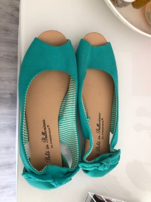 Primark Ballerines à bout ouvert turquoise