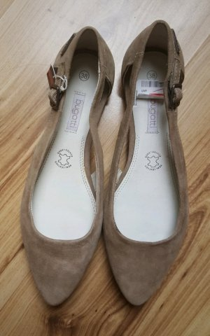 Tamaris Peep Toe ballerina's beige