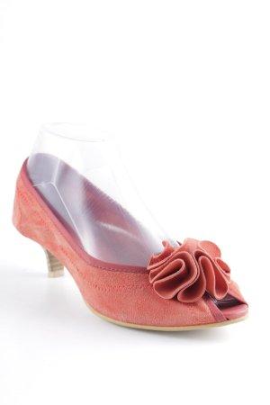 Ballerina spuntata rosso chiaro-rosso stile casual