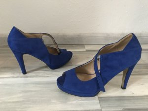 Bodyflirt Peep Toe Pumps blauw-neon blauw