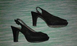 Peeptoe-High Heels/Plateauschuhe Gr.38 Tamaris schwarz