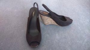 Peeptoe Keilabsatz Schuhe