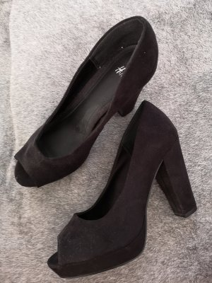 HM Plateauzool pumps zwart