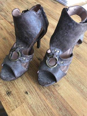 Best Connections Peep Toe Pumps dark brown