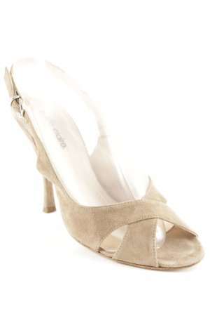 Peep Toe Pumps camel classic style