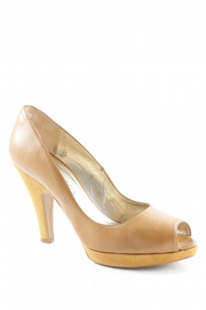 Peep Toe Pumps cognac-coloured elegant
