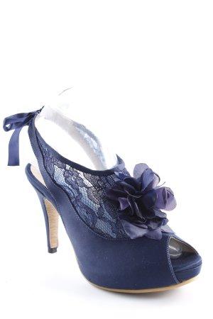 Peeptoe Pumps dunkelblau Elegant
