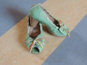 Airstep Peep Toe Pumps mint leather