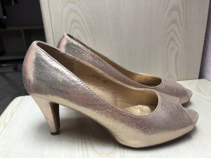 Peep Toe Pumps goud