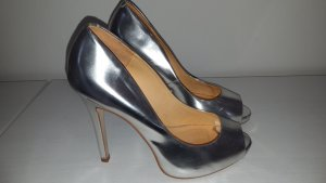 on sale 96495 75364 Buffalo Peep Toe Pumps silver-colored