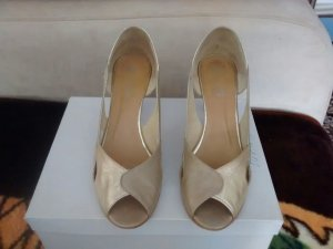 Peep Toe Pumps goud Leer
