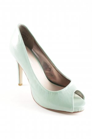 Peeptoe Pumps mint Glanz-Optik