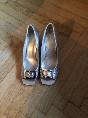 Catwalk Peep Toe Pumps silver-colored
