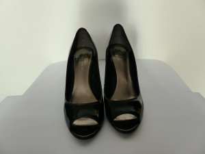 Peeptoe Pumps Nine West schwarz Lack Gr. 38