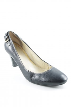Peeptoe Pumps schwarz Casual-Look