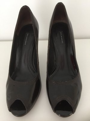 Belmondo Peep Toe Pumps dark brown