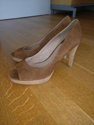 Peeptoe-Pumps von CARMA Shoes Gr 41 Wildleder, bequem