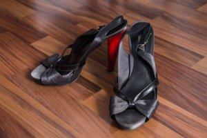 Zara Peep Toe Pumps black-red