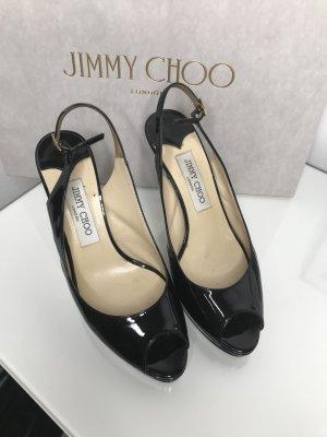 Jimmy Choo Slingback Pumps black leather