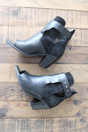 Topshop Booties black-silver-colored