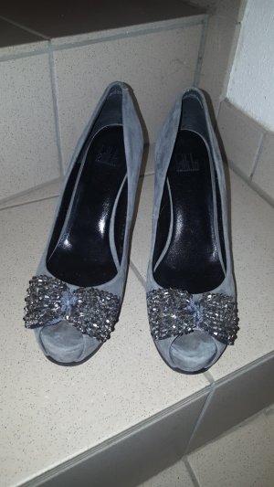 Billi Bi Peep Toe Pumps grey