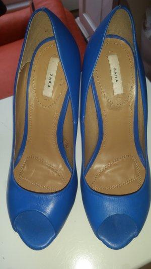 Peeptoe Zara blau hoch