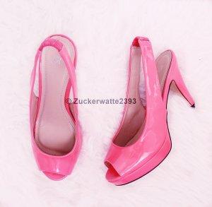 Peeptoes 36 Pink Lack High Heels N E U gebraucht kaufen  Wird an jeden Ort in Österreich