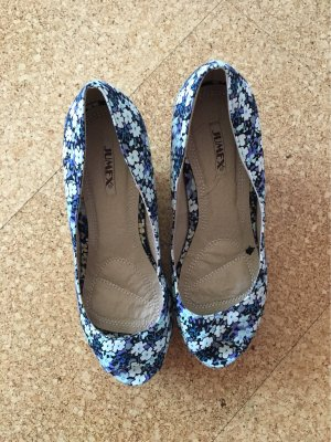 Peep Toe Pumps donkerblauw